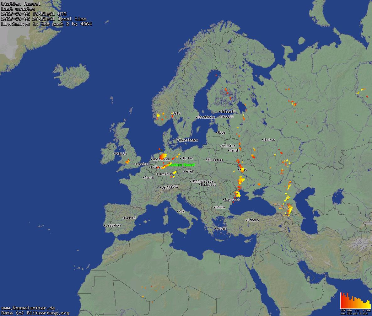 Blitzkarte Europa Groß